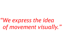 We express the idea of movement visually