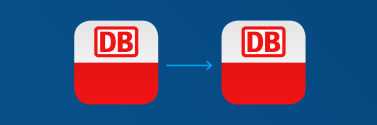 links: Original Icon, rechts: Darstellung in Android